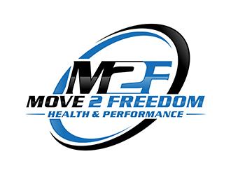 Move 2 Freedom Health & Performance  logo design