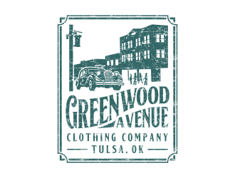 Greenwood Avenue Clothing Company logo design