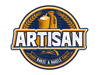 Artisan Bakes, Bagels and Pizza Logo Design