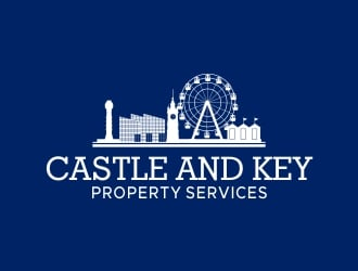 Castle and Key Property Services logo design