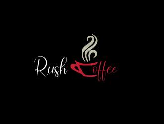 Rush Coffee logo design by nikkl