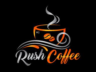 Rush Coffee logo design by Sandip