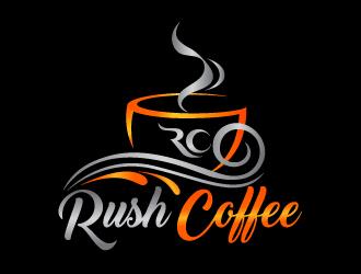 Rush Coffee logo design