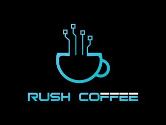 Rush Coffee logo design by azizah