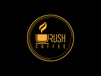 Rush Coffee logo design by NadeIlakes