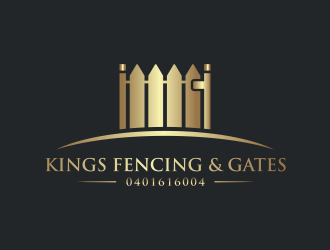 KINGS FENCING & GATES logo design