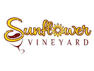 Sunflower Vineyard logo design