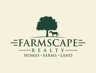 Farmscape Realty logo design