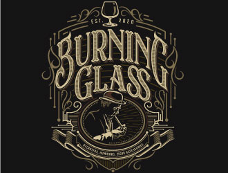 Burning Glass logo design