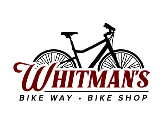 Whitmans Bike Way Bike Shop logo design