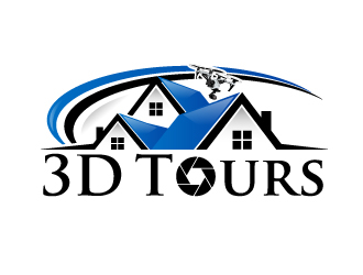 3D Tours logo design