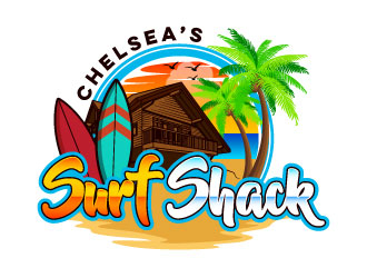 Chelseas Surf Shack logo design