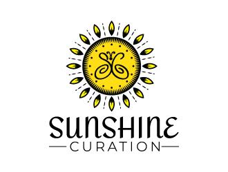 Sunshine Curation  logo design