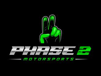 Phase 2 Motorsports logo design