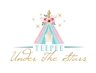 Teepee Under The Stars logo design
