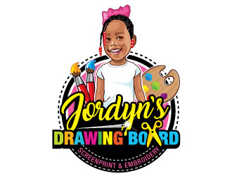 Jordyn's Drawing Board Screenprint and Embroidery  Logo Design
