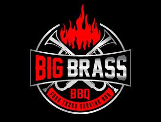 Big Brass BBQ logo design by MonkDesign