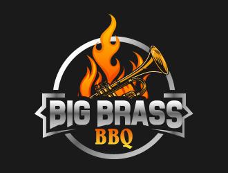 Big Brass BBQ logo design by designbyorimat