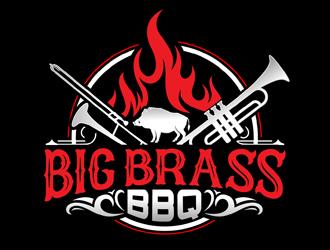 Big Brass BBQ logo design by DreamLogoDesign