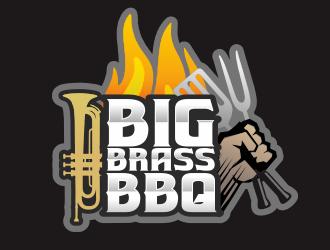 Big Brass BBQ logo design by M J