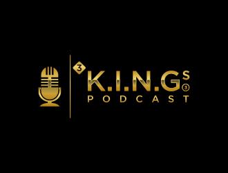 3 K.I.N.G.G.Gs Podcast logo design