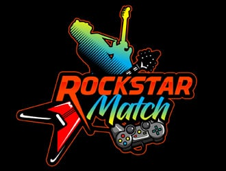 RockStar Match logo design
