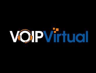 VoipVirtual.com logo design