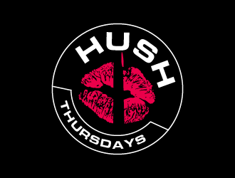 HUSH Thursdays logo design