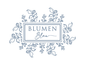 Blumen Blau logo design winner