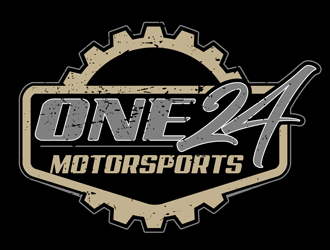 ONE24 Motorsports logo design