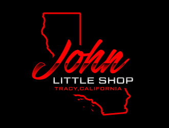 John little shop  logo design