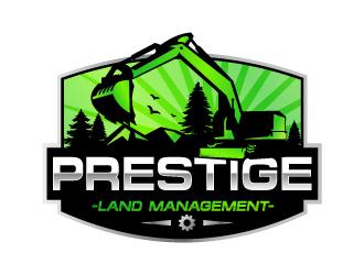 Prestige Land Management  logo design
