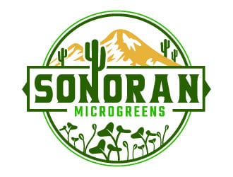 Sonoran MicroGreens logo design
