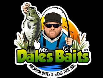 Mr. Dales Baits logo design