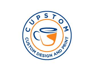 Cupstom logo design
