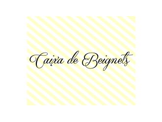Caixa de Beignets logo design by Zhafir