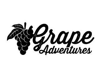 Grape Adventures logo design by ElonStark