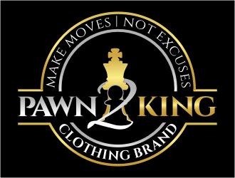 Pawn 2 King Clothing Brand logo design