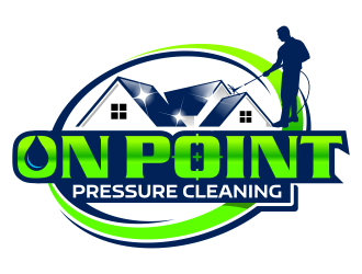 On point pressure cleaning llc logo design