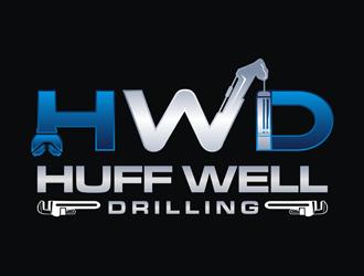 Huff Well Drilling logo design