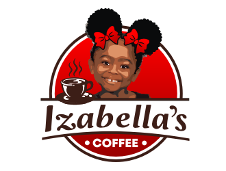 Izabellas Coffee logo design by coco