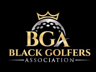 black golfers association (BGA) logo design by jaize