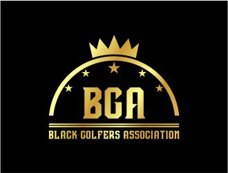 black golfers association (BGA) logo design by fadlan