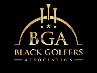 black golfers association (BGA) logo design by kopipanas