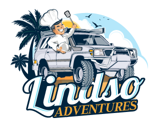 Lindso Adventures  logo design