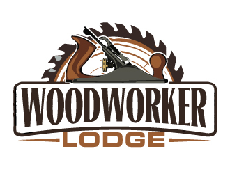 woodworker lodge logo design
