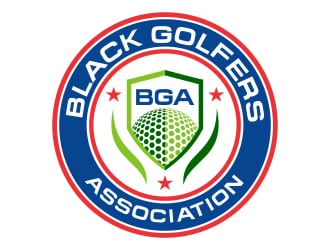 black golfers association (BGA) logo design