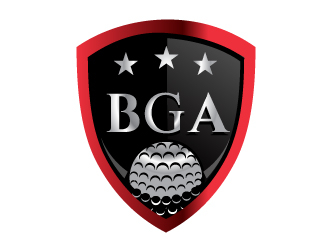black golfers association (BGA) logo design by LogoQueen