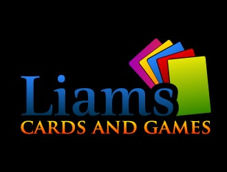 Liams Cards and Games logo design