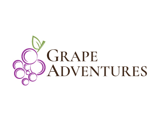 Grape Adventures logo design